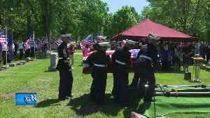 News video: Funeral held for Menasha Marine killed in WWII