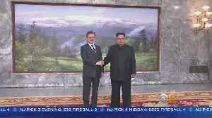 Moon Jae-In Holds Surprise Visit With Kim Jong-Un