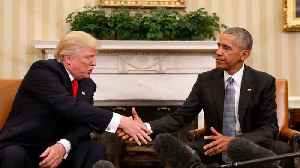 News video: Obama Takes Jab At Trump Over Presidential Work Schedule