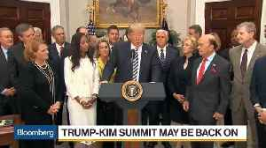 News video: Trump Appears to Confirm His Summit With Kim Is Back on Track