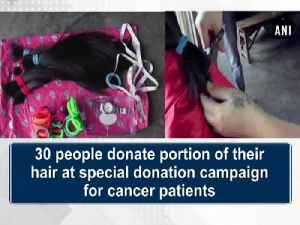 News video: 30 people donate portion of their hair at special donation campaign for cancer patients