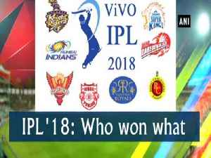 News video: IPL '18: Who won what