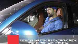 After The Worst IPL Season, Yuvraj Singh Spotted  With Wife In Mumbai [Video]