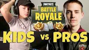Fortnite Battle Royale Kid Challenges Pros On Twitch (Rocco Piazza) [Video]