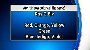 News video: Are all rainbow colors the same?