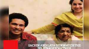 Sachin And Lata Didi Watch The IPL Finale Together [Video]