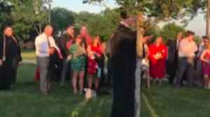 News video: Valedictorian Barred From Speaking by School Reads Commencement Over Bullhorn