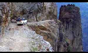 News video: This cliffside road in the Himalayas is absolutely terrifying