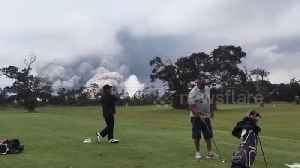 News video: Golfers undistracted by volcano's massive ash plume behind them