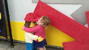 News video: Little Girl Makes Friends With Lego Models At Legoland
