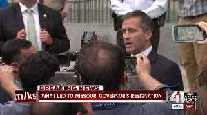News video: What led to Missouri governor's resignation