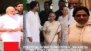 Political Donations Over 20,000 Are Rs 589 Crore  Of This BJP Got 532 Cr