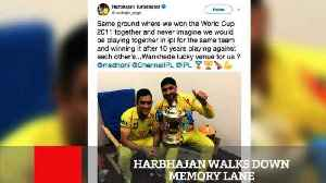 News video: Harbhajan Walks Down Memory Lane