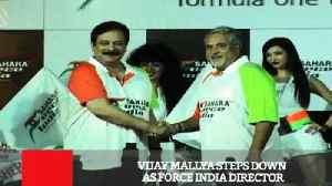 Vijay Mallya Steps Down As Force India Director [Video]
