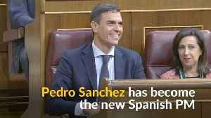 News video: Sanchez becomes new Spanish PM as Rajoy gets forced out of office