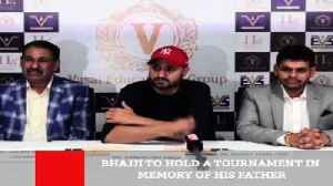 News video: Bhajji To Hold A Tournament In Memory Of His Father