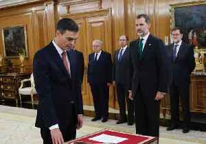 News video: Pedro Sanchez Sworn In as Spanish PM One Day After Ousting Rival Rajoy
