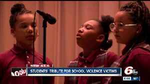Indy students perform tribute to school violence victims across the country
