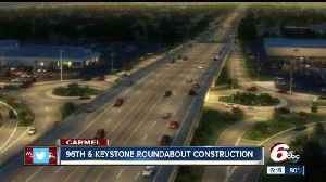 Ramp construction begins Monday for new roundabout interchange at 96th and Keystone in Carmel