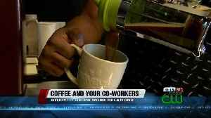 News video: Study: drinking coffee can improve relations among co-workers