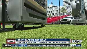 News video: Venues taking care of fans in the heat