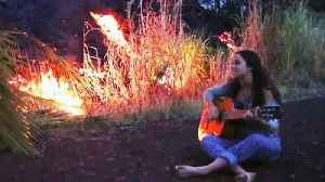 News video: Teen Sings Song to Lava While Evacuating Hawaii Home