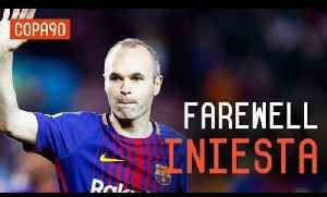 News video: Barcelona's Emotional Farewell To Andrés Iniesta