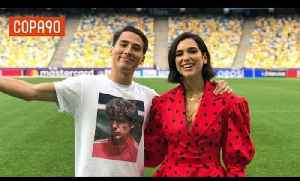 News video: Meeting Dua Lipa | Behind the Scenes at the Champions League Final