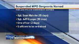 News video: Milwaukee police name sergeants suspended in Sterling Brown arrest
