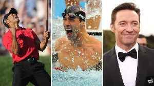 News video: Tiger Woods, Michael Phelps, and Hugh Jackman. The No. 1s of 2008