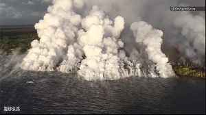 News video: Wild Footage of Kilauea Lava Flowing into Pacific Ocean