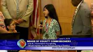 News video: 10-Year-Old Girl Honored After Using Body as Shield To Protect Babies During Shooting
