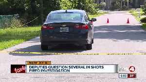Deputies search for shooting suspect