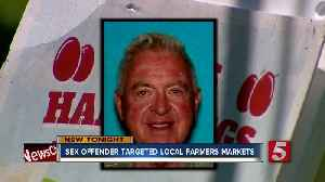 News video: Sex Offender Sparks Tighter Security At Local Farmers Markets