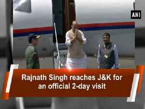 News video: Rajnath Singh reaches J&K for an official 2-day visit