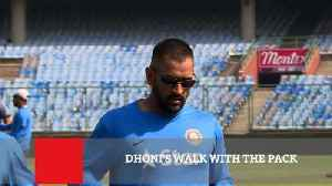 Dhoni's Walk With The Pack
