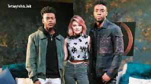 News video: Olivia Holt and Aubrey Joseph on Meeting Fellow Marvel Actor Chadwick Boseman: 'Amazing Is an Understatement'
