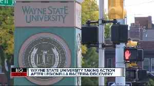 Legionella identified at multiple locations on Wayne State University campus [Video]