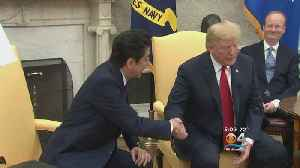 News video: Trump, Abe To Discuss Trade, North Korea Ahead Of G-7 Summit