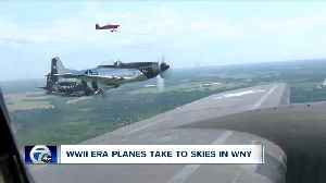Heritage Flight shows off WWII-era airplanes for people across Western New York [Video]