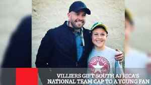 Villiers Gift South Africa's National Team Cap To A Young Fan