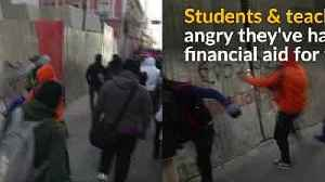 News video: Bolivian students protest government building cost