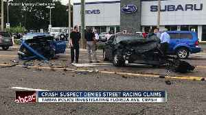 Alleged street racer who hit innocent driver claims he wasn't racing another car