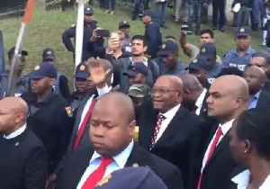 News video: Supporters Greet Former President Zuma After Court Appearance on Corruption Charges