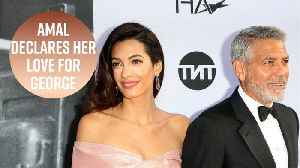 Amal's speech for George Clooney will make you cry