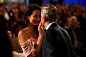 George Clooney Tears up During Wife Amal's AFI Speech