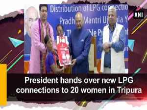 News video: President hands over new LPG connections to 20 women in Tripura