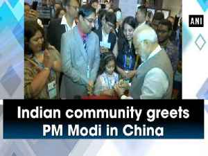 News video: Indian community greets PM Modi in China