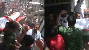 News video: Palestinians hold funerals for protesters killed during clashes