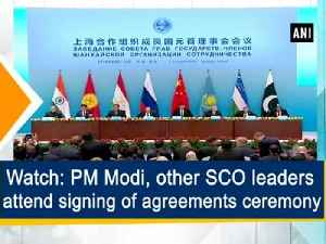 Watch: PM Modi, other SCO leaders attend signing of agreements ceremony